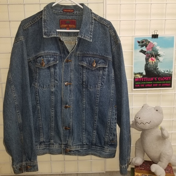 Stony River Other - Stony River 80's Vintage Denim Button Jacket sz XL
